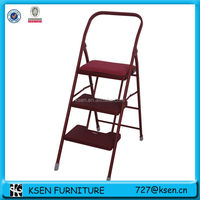 3 step folding aluminum ladder KC-7093AL-C
