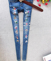 New Arrival 2014 Women Autumn Winter Fashion Korean Style Slim Skinny Pencil Pants Jeans