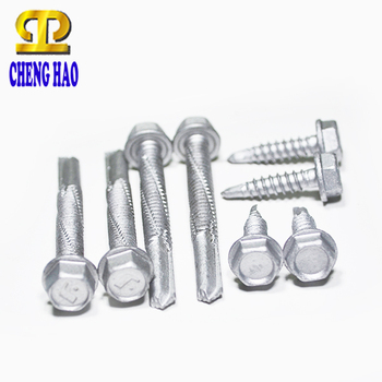 Taiwan Hardware Flange Drilling TEK Roofing Screw Hex Head