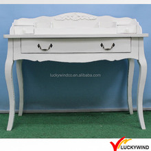 White French style wooden dressing table w/ 3 drawers