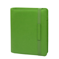 Colorful 6 ring binder file folder carrying case with elastic band