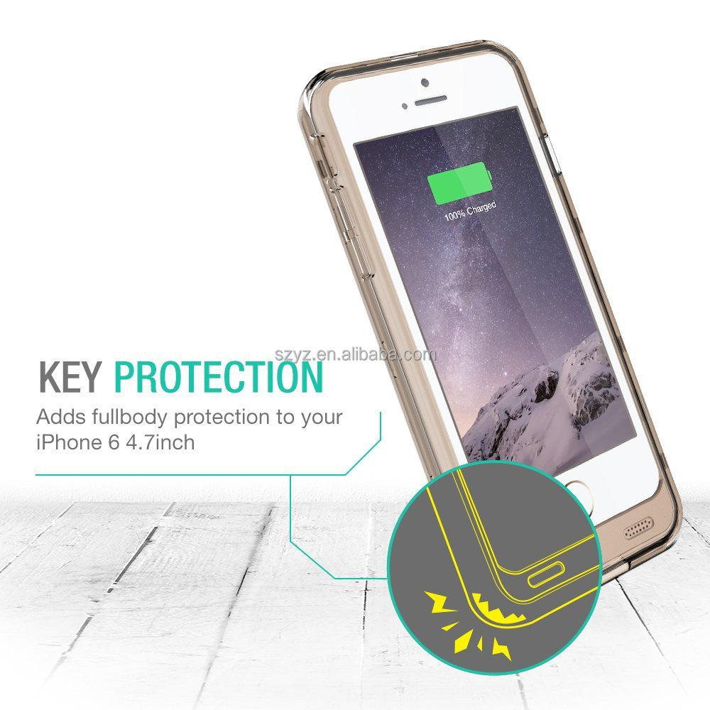 Waterproof Battery case backup additonal protektor charger for Iphone 6 7