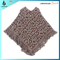 Winter Ladies Cape Coat Printed Leopard