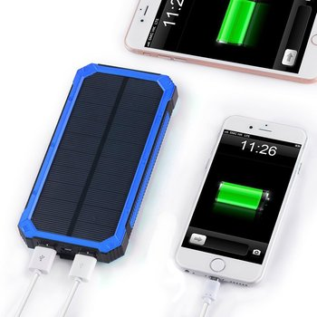 New private model solar mobile waterproof power bank charger portable with 20000mAh large capacity