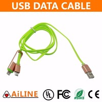 AiLINE General Use USB Cable 1m Flat Noodle Micro USB Charger