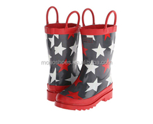 Cheap Kids Rubber Rain Boots with Star Wellington Manufacturer