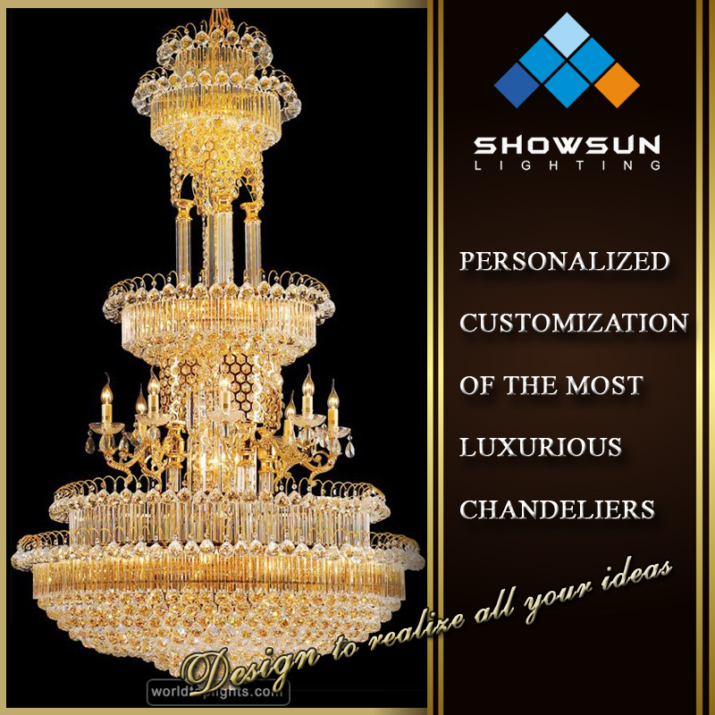 2016 Novel modern crystal decoration large luxury candle crystal light