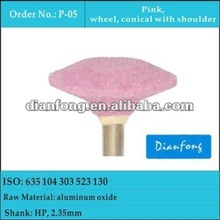 HP wheel pink fine corundum abrasive mounted stone for all types of metals