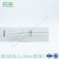 personal care plastic hotel comb for hotel amenities