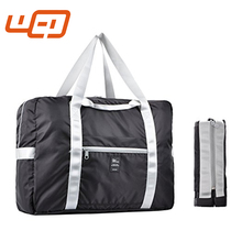 Rockland Black Striped Nylon Expandable packing custom travel gym bag