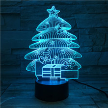 3D Night Light Led Acrylic Lamp New Christmas Tree 3D Illusion Lights