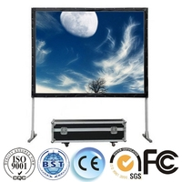 Profecssional 4:3 fast fold projection screen, front projector screen with new material