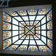 Modern building ceiling dome stained glass