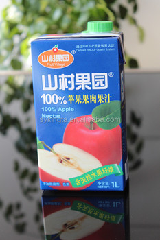 Aseptic brick-type box for juice