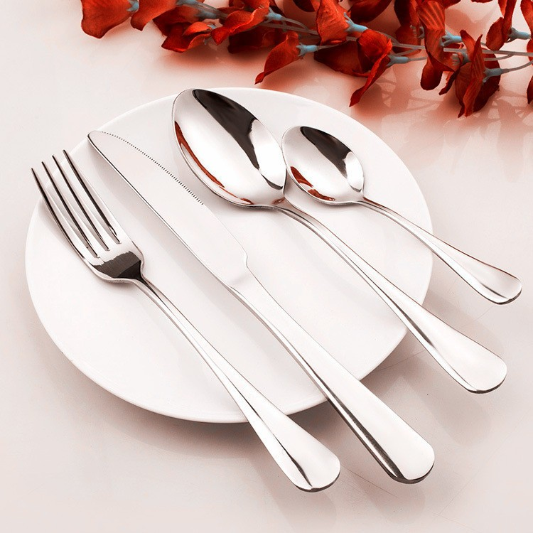 China Cutlery Manufacture Wholesale OEM/ODM High Quality 5 Pieces of Set Royal Polish <strong>Stainless</strong> Steel Cutlery Set Cutlery