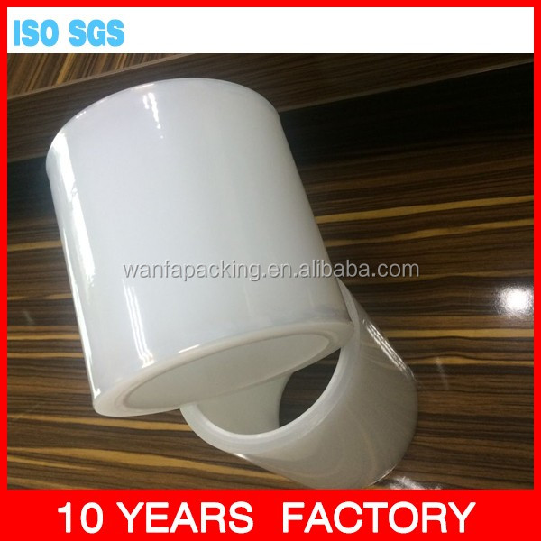 Wanfa clear soft plastic packing pe protective film in roll for wooden