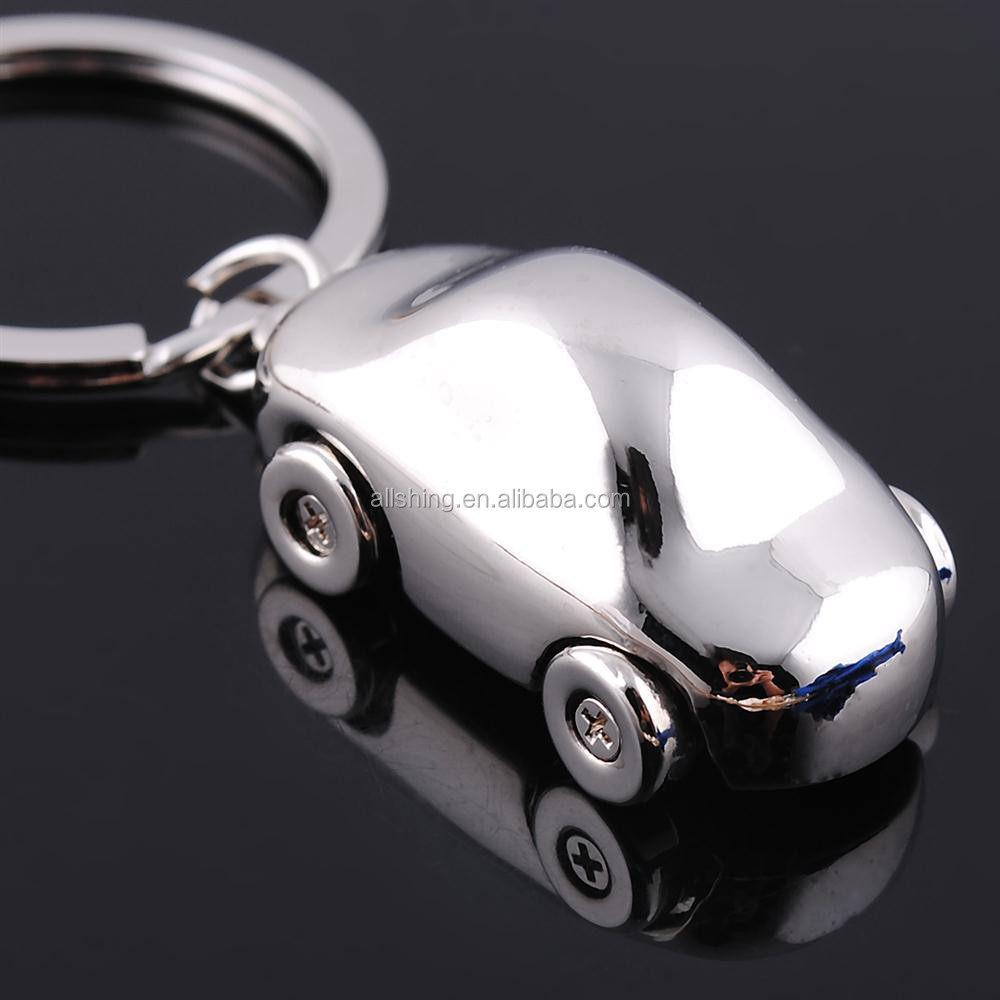 Wholesale metal 3D car key chains /Promo keychains metal 3d car shape key rings