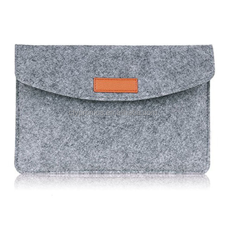 Customized Wholesale Wool Felt Leather Laptop Case Bag Sleeve For Laptop Notebook Computer Ultrabook Macbook