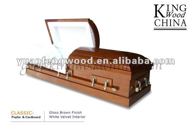 CLASSIC cardboard veneer caskets using recycled materials corrugated coffin