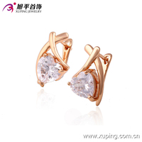 Promotion Price Xuping Fashion Heart Shaped Gold Earring with 18K Gold Plated