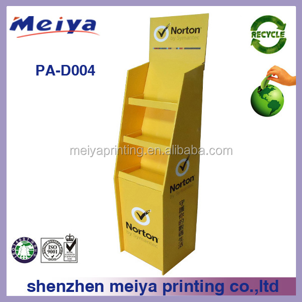 Meiya 4C custom Cardboard floor Display Racks for mentos Supermarket promotion beverage/candy display stands