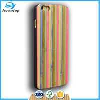 Natural rainbow bamboo eco-friendly wood phone cases with PC back cover for iphone 6plus /6splus