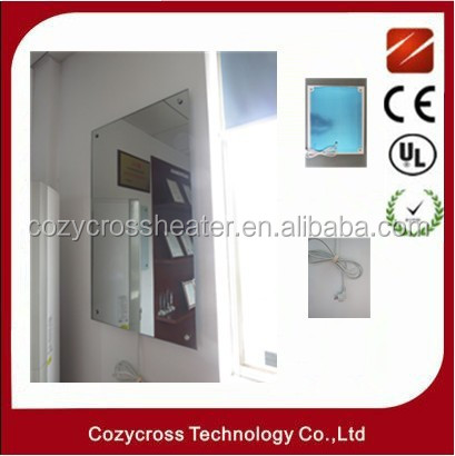 glass panel wall bathroom convector heater with IP