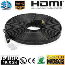 High Speed HDMI Flat Cable with Ethemet 1.4v 3D 1080P