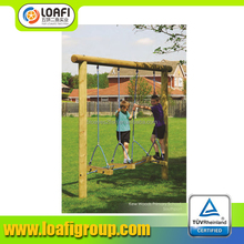 China new design popular swing steps wooden cheap playgrounds for kids