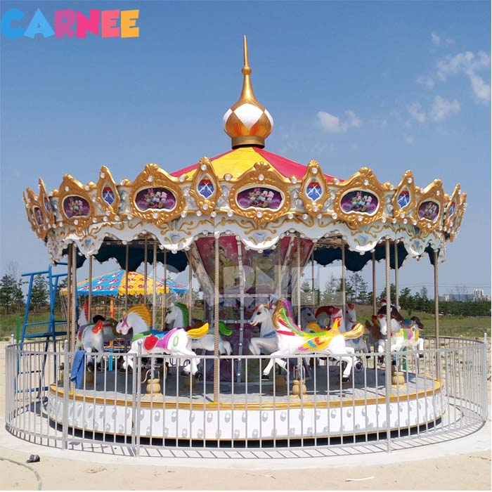 Factory Price Carnee Funfair Equipment Supplier 24 Seats Musical Carousel