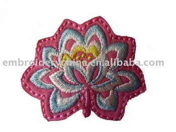 embroidery lotus flower patch/appliques as decoration