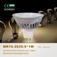 12V high power 9*1W led mr16 narrow