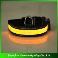 Dogs or other pets,Dogs Application, Solar luminous Dog LED collar