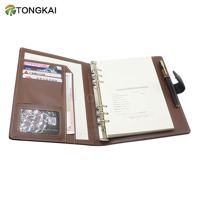 A5 Faux Leather Personal Planner 6-Ring Binder a5 planner organizer