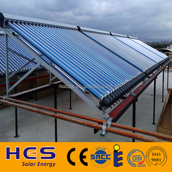 Vacuum tube water heating solar panel