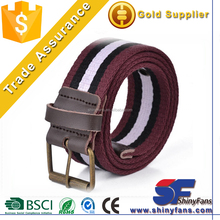 Factory Fashion Striped D-ring Colorful Sport Canvas Belt