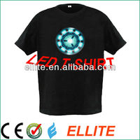 Disco sound-activated flashing polera led de iron man