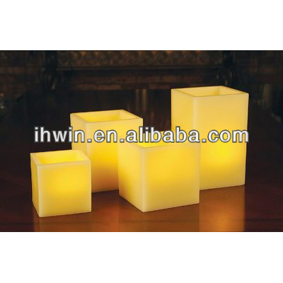 led scented square wax candle with 5 hours timer