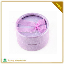 Flocked Round Debossed Logo Jewelry Box Vietnam For Nose Rings Boxes
