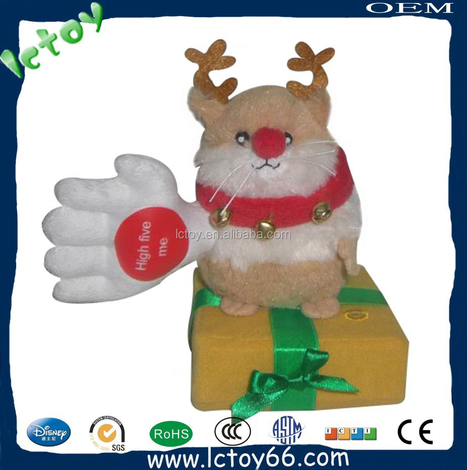 custom electric santa claus stuffed toy with custom design