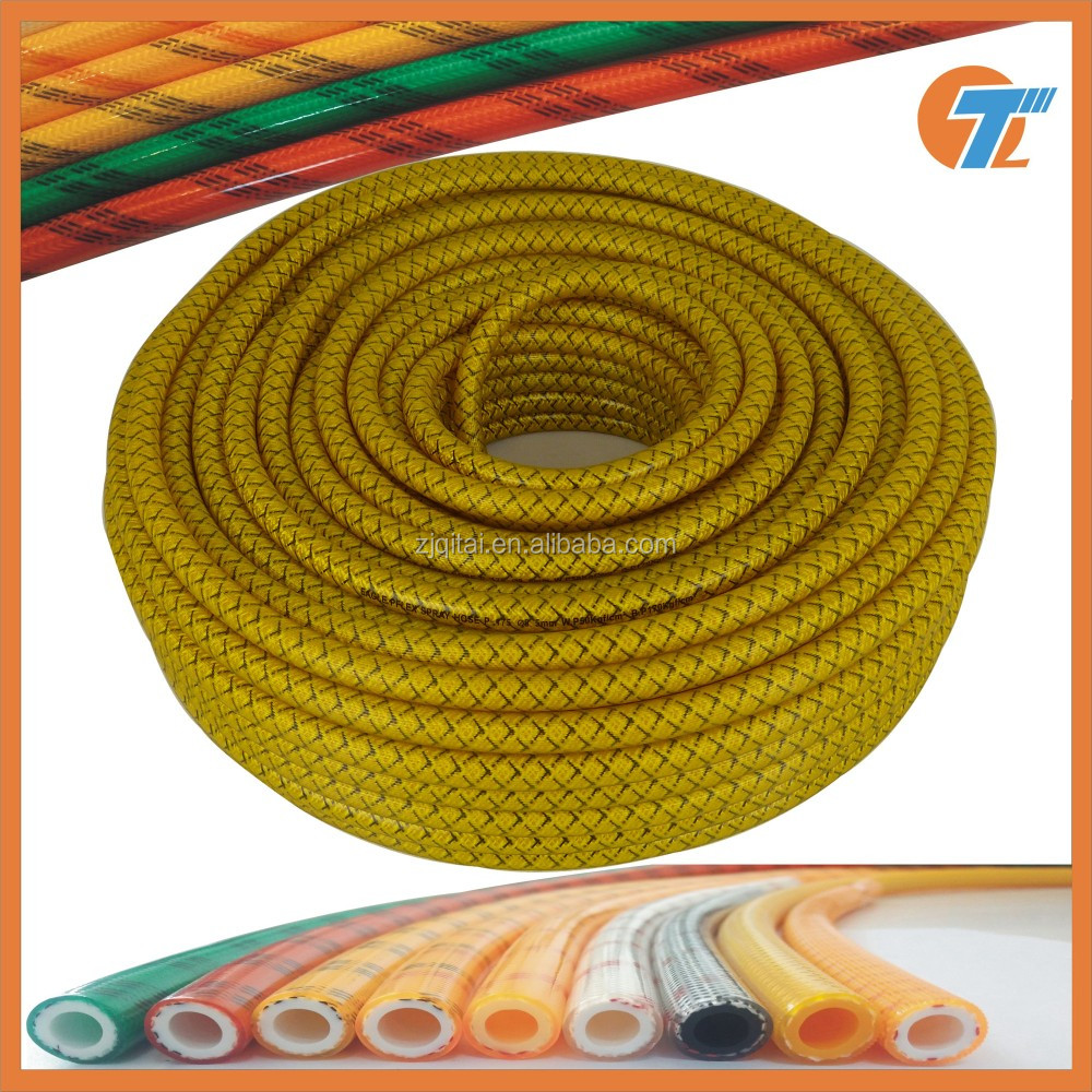 Agricultural <strong>Hose</strong> Pipe / PVC Braided <strong>Hose</strong> Pipe / Yellow High Pressure Spray <strong>Hose</strong> 8.5mm