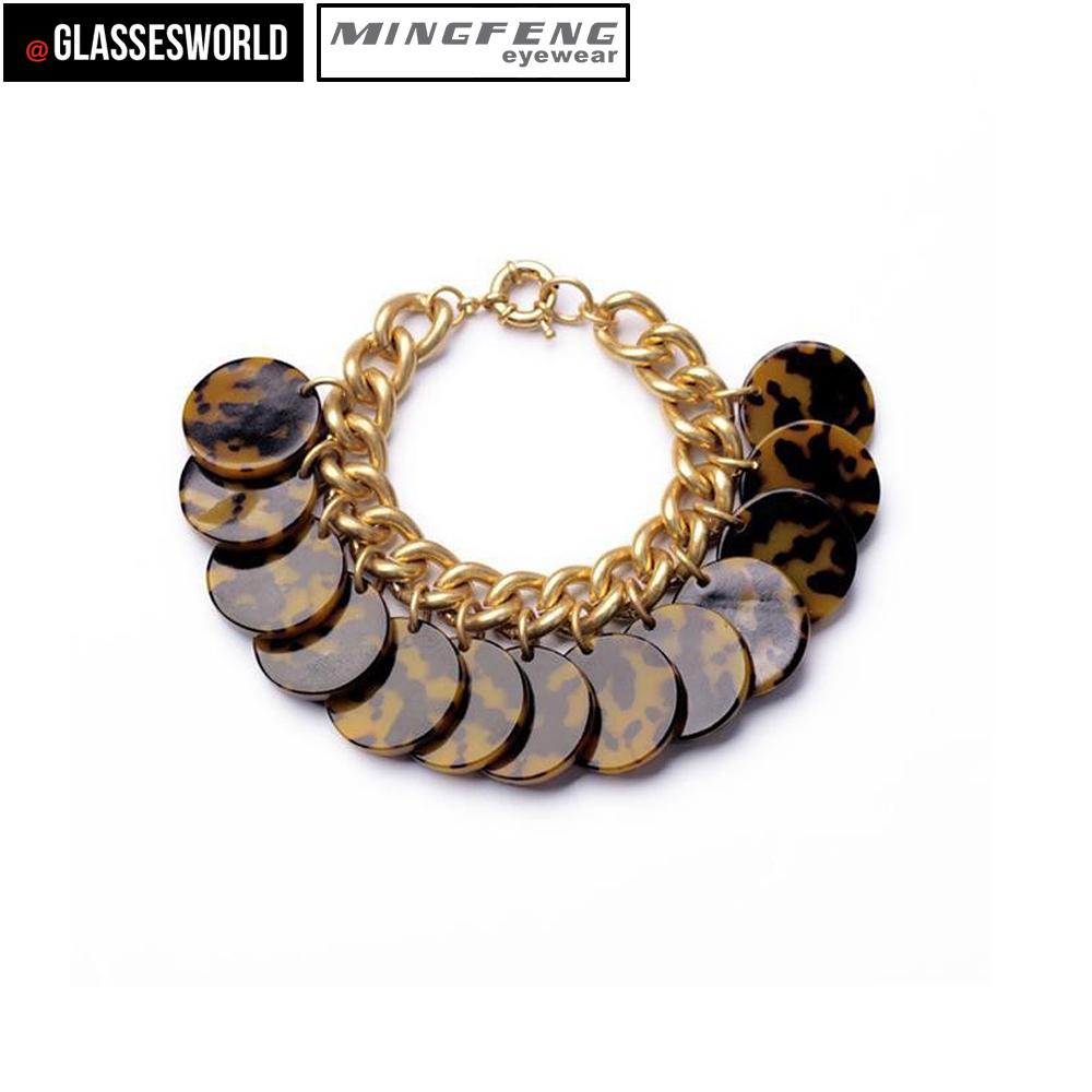 factory wholesale fashion metal bracelet acetate jewelry
