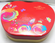 High quality apple shaped big red cookie tin box