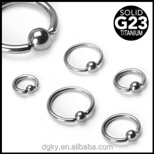 KaiYu body piercing Solid Titanium Ball Closure Rings