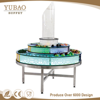 Colorful LED Mobile Removable Detachable Modern Commercial Led Round Bar Counter , Display Counter