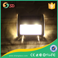Factory Price decorative 0.2w 2 LED solar led wall light for garden, solar garden light parts
