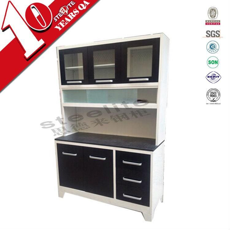 Home Furniture Free Standing Stainless Steel Storage Black Kitchen