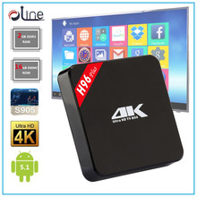 4 USB Interface Amlogic S905 2GB DDR3 RAM 16GB EMMC ROM h96 plus set top box android tv box with sim card slot