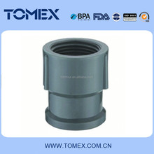 Best price grey color NBR standard PVC pipe fitting 25*20mm reducing coupling