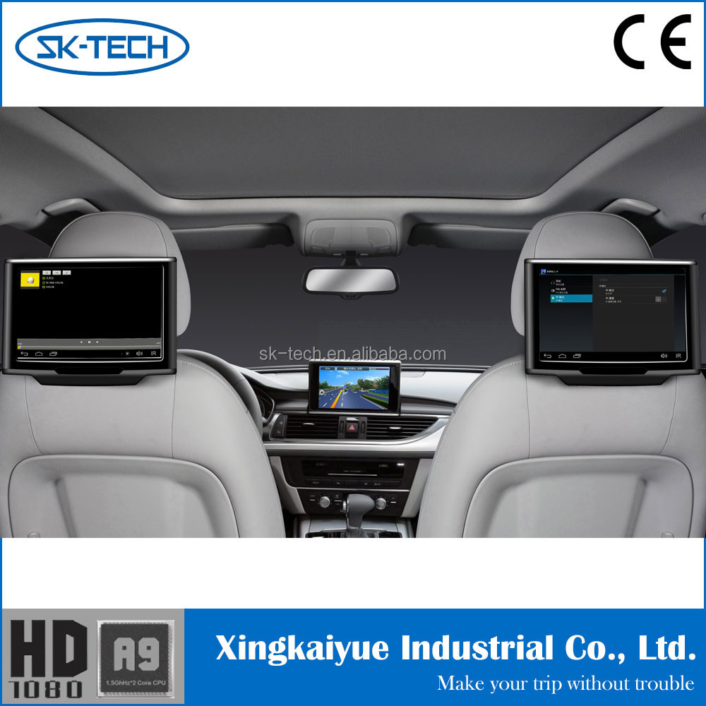 FAST SENT!!!a pair 10.1 inch tft lcd car headrest monitor without pillow for TOYATO&HONDA